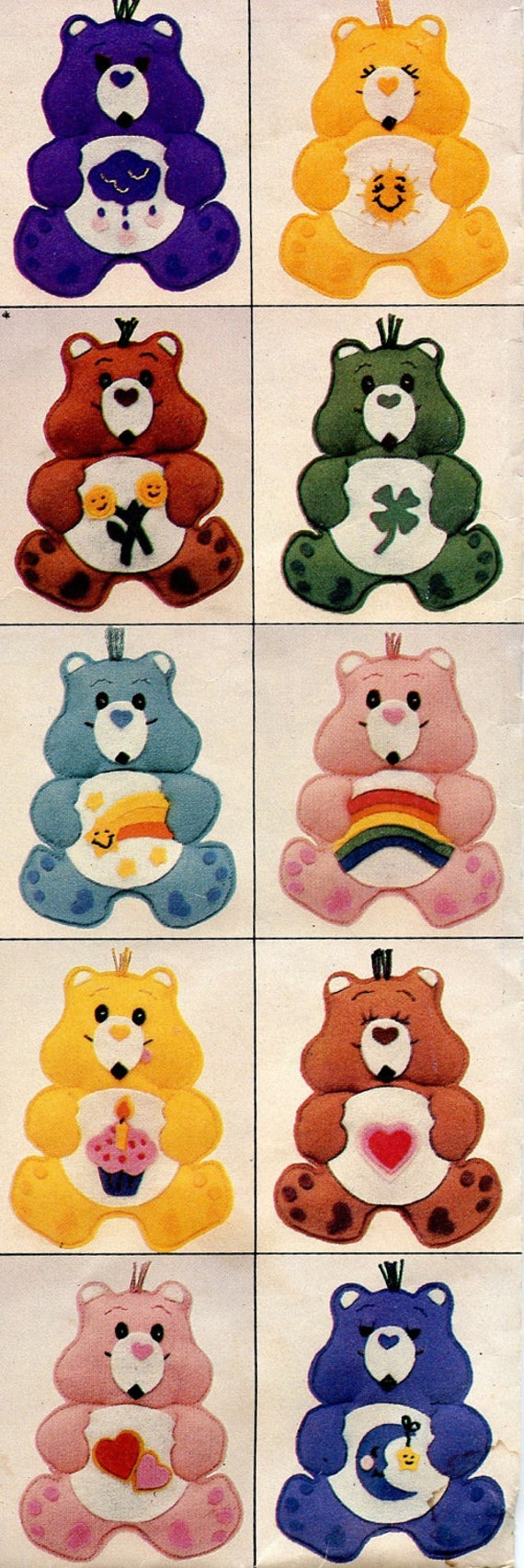 1980s Butterick 6725 Care Bear Ornament Crib By Greydogvintage