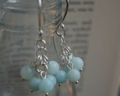 SALE Jade Cluster Earrings