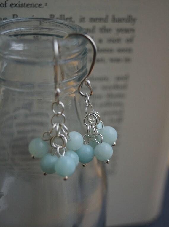 SALE Jade Cluster Earrings