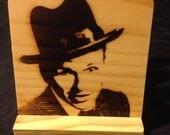 Frank Sinatra Coasters, Branded - Solid Pine Wood