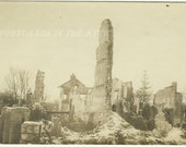 Building Destroyed by Fire -  Burnt - Burning - Sepia - Very Rare - Disaster 1900s Antique Real Photograph Postcard RPP