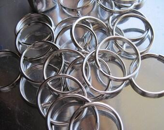 40 Silver split rings/key rings 25mm Bulk Key Rings