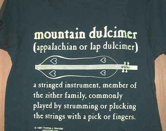 Mountain Dulcimer Definition T-Shirt Womens Sizes