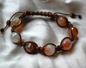 Crackle Agate Shamballa Bracelet
