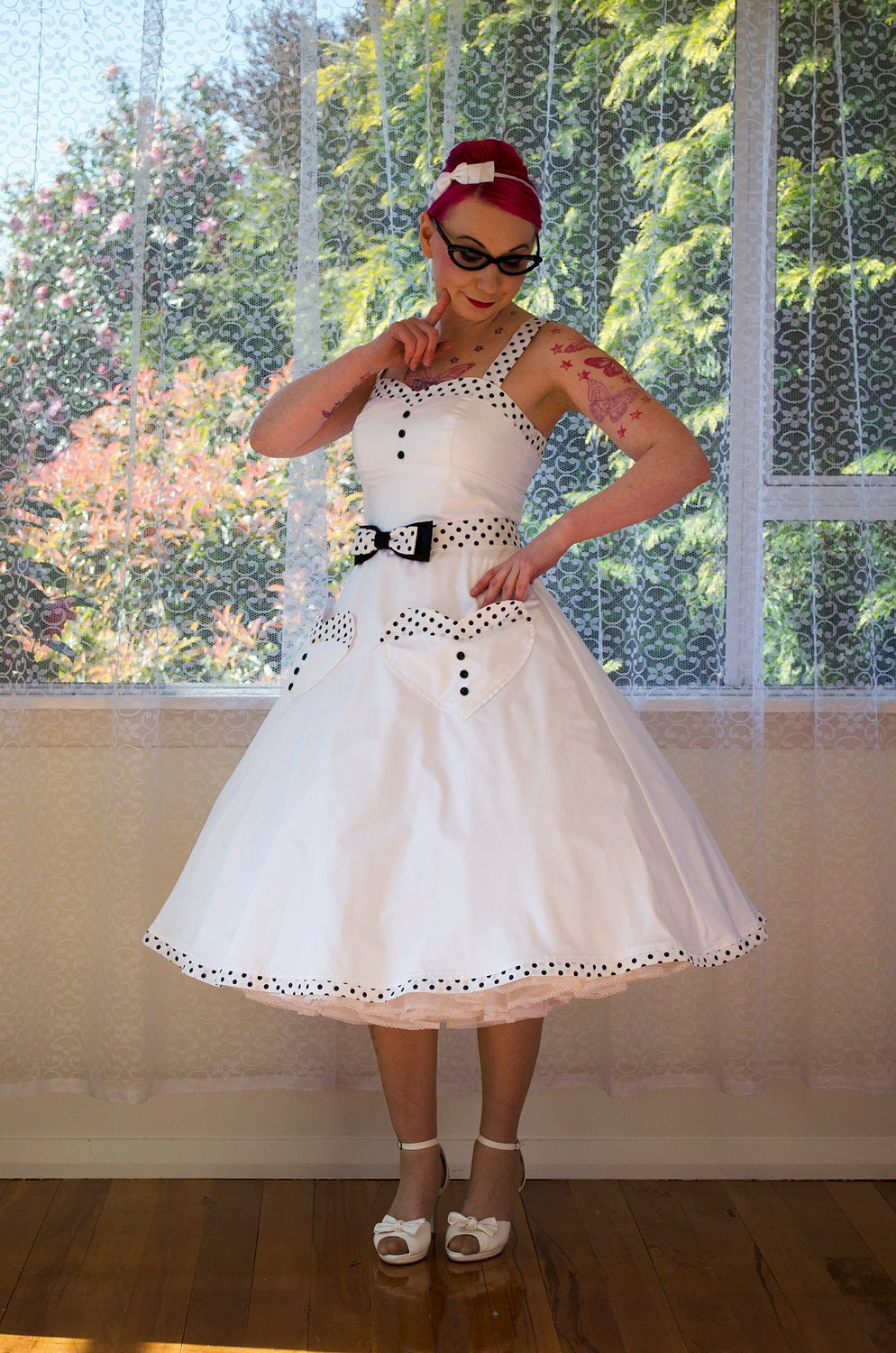 1950s Rockabilly 39 Elise 39 Wedding Dress With