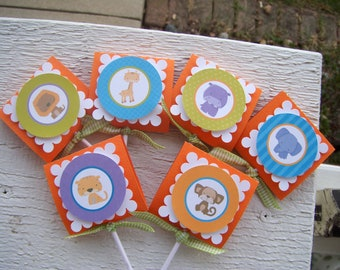 Zoo Animal Lollipop Favor  Set of 36