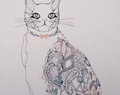 Dust & Silk - Cat Giclée Print - kirstybaynham