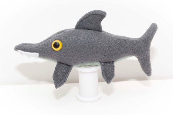 Baby Extinct Ichthyosaur Fossil Plush in Gray and Pale Green