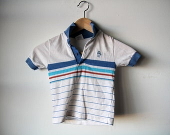 vintage TODDLER WINNIE the pooh STRIPED children's boy polo t shirt top