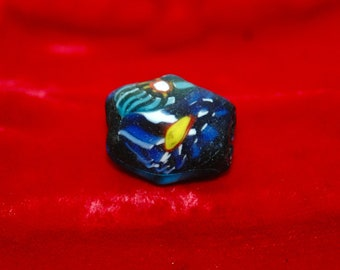 Antique North African Pressed Glass Trading Bead