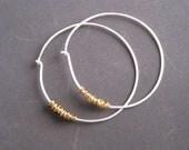Minimalist Round Silver Hoops