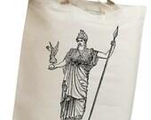 Goddess Athena Vintage Eco Friendly Canvas Tote Bag (icg001)