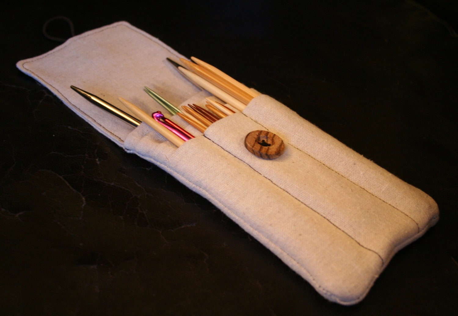 Knitting needle case sewing pattern PDF by AmandaLilleyDesigns
