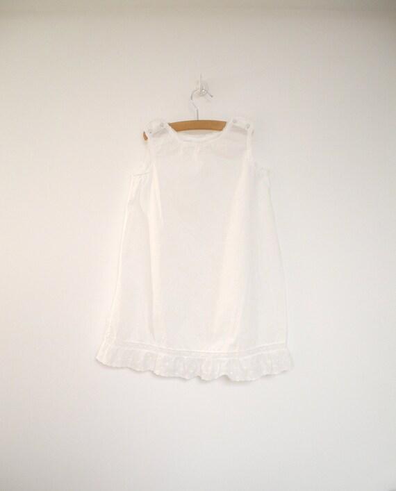 1940's Handmade White Lace Petticoat