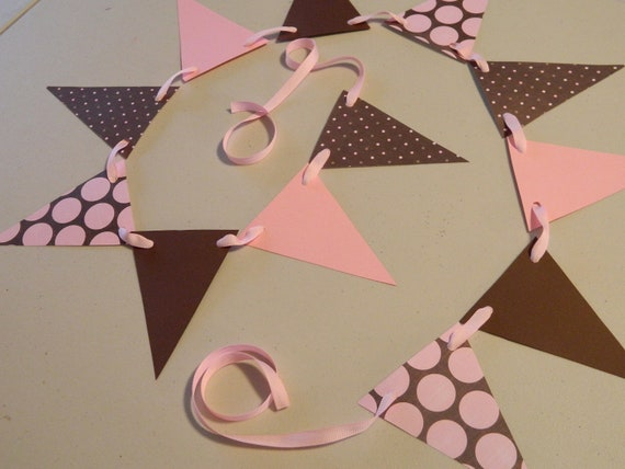 Girl Baby Shower Decorations Pink and Brown 570 x 428