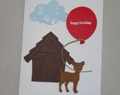 Custom order for Gail: 'Birthday Wishes from the White Dog'