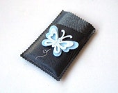 Synthetic Leather iPhone / iPod touch case -  Butterfly - sp042