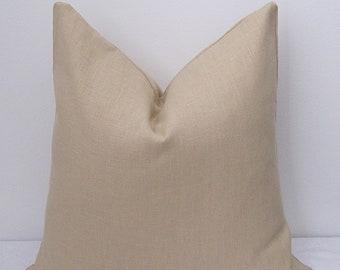 "Solid European Linen Pillow Cover - Decorative Pillowcase 18""x18""-"