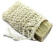 Fair Trade White Hemp Soap Saver Sack. Soap Bag, Pouch