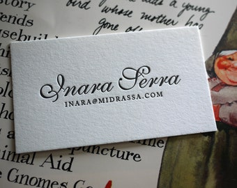 The Elegant Card – Custom Letterpress Printed Calling Cards 100ct