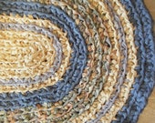 Rag Rug Bluer than Blue Area Rug for Etsy
