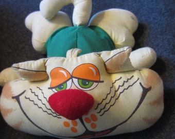 "Vintage Russ Berrie Co ""Arthur"" Bean Bag Cat ""You Tickle My Whiskers"" Cloth doll toy kitschy kitty doll retro childhood"