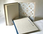 SaLe - Handbound Hardcover Blank Book with Blue Stars for Writing Sketching Journaling