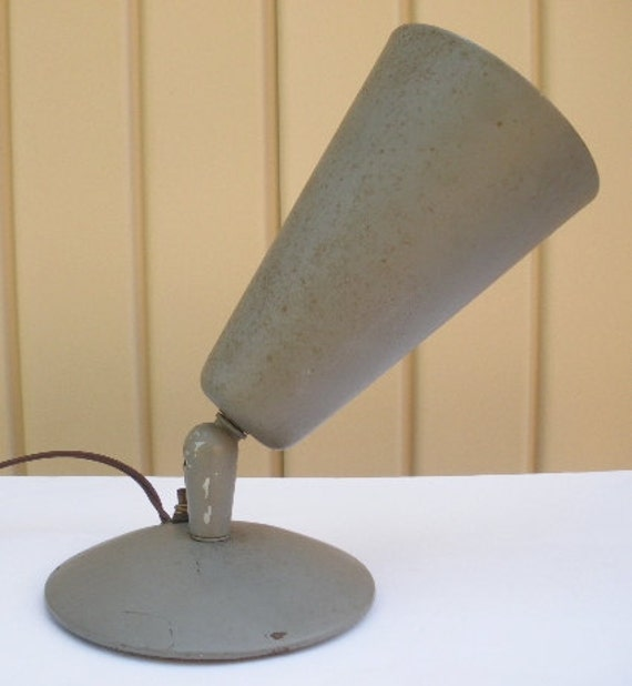 vintage 1950s lamp 50s industrial wall lamp sconce cone shape  loft decor