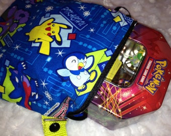 ECO-SMART Lunch collectable POKEMON Zippered Wet/Dry Bag with a snap handler Ready to ship