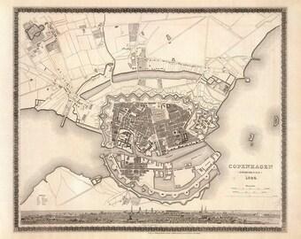 1844 Map of Copenhagen