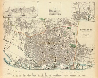 1836 Map of Liverpool