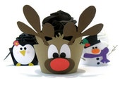 Reindeer Cupcake Wrappers  - Set of 12