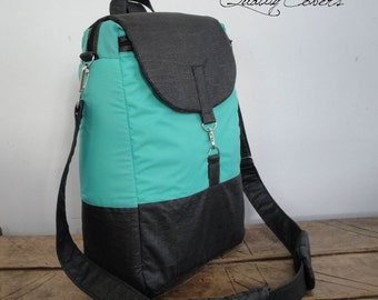 CUSTOMIZABLE Messenger bag for Color Fabric and Size - Convertible Backpack - laptop COMPARTMENT / Shoulder PADS