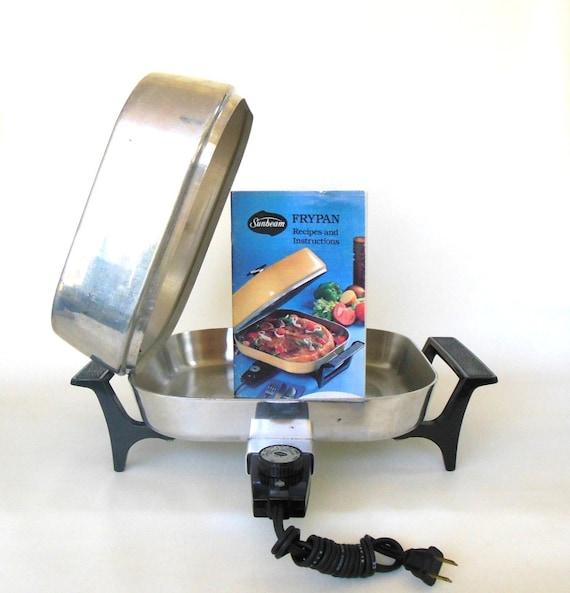 Vintage Sunbeam Electric Skillet Frypan Stainless Steel Fp P