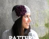 PDF PATTERN Crochet Flower Headband Earwarmer DIY Headband