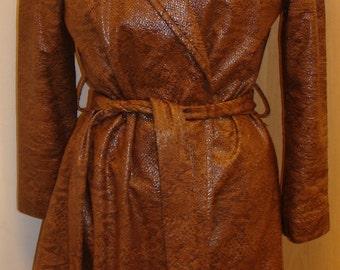 Snakeskin wrap coat
