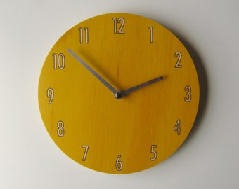 Objectify Mustard Shade Wall Clock