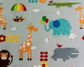 Bungle Jungle Fabric - Critters fabric in grey by Tim and Beck for Moda Fabrics (1 yard) SALE