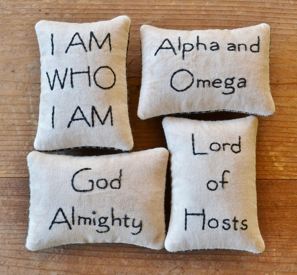 Names of God Decorative Pillows Religious Bowl Fillers Bible