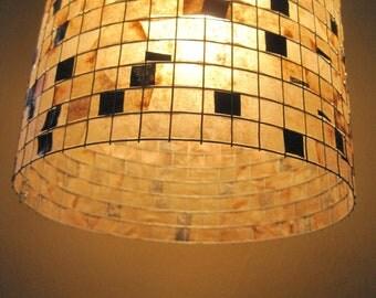 Lamp Shade Table Lamp - COFFEE FILTER ART - Lamp Hanging Lighting Lampshade