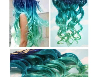 Blue Green Ombre Etsy