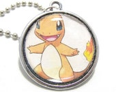 Pokemon: Charmander and Charizard Pendant Necklace