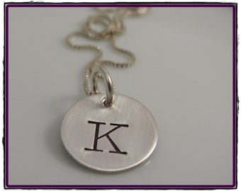 Sterling Silver Hand Stamped - Personalized Charm Necklace - SIMPLY STAMPED
