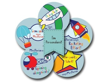 UP UP and AWAY Personalized stickers for Teachers