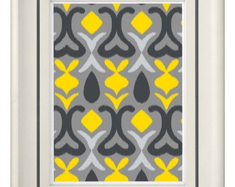 Modern Vintage Yellow Wall Art - Home Decor (Unframed)