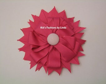Hot Pink Hairbow with Alligator Clip