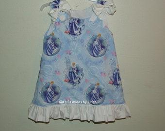 Ruffle Aline Dress with Cinderella fabric