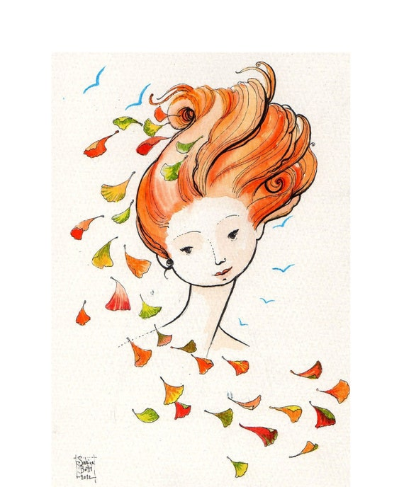 Limited edition 8x11 print  Falling Leaves