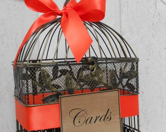 Birdcage Wedding Card Holder / Wedding Birdcage Cardholder / Baby Shower Card Holder / Wishes / Advice Birdcage / Card Box