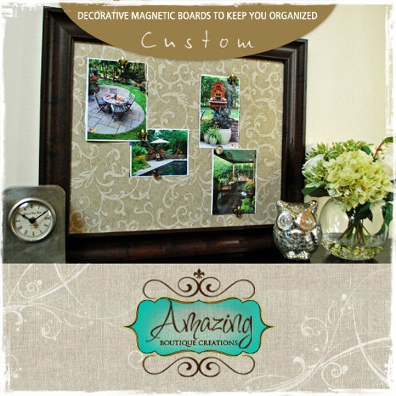 CUSTOM ORDER - L Magnetic Chalkboard for Amy